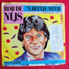 Discos de vinilo: ROB DE NIJS - 'N BEETJE MEER. Lote 47558527