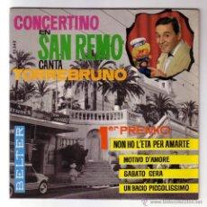 Discos de vinilo: TORREBRUNO.CONCERTINO EN SAN REMO.EP.BELTER.AÑO 1964. Lote 47560811