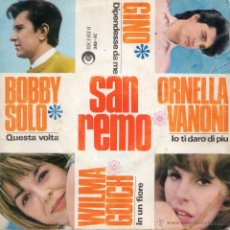 Discos de vinilo: FESTIVAL DE SAN REMO, EP, WILMA GOICH - IN UN FIORE + 3, AÑO 1966. Lote 47577816