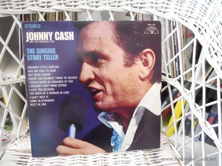 JOHNNY CASH AND THE TENNESSEE TWO – THE SINGING STORY TELLER.LP ORIGINAL USA 1979.SUN RECORDS (Música - Discos - LP Vinilo - Country y Folk)