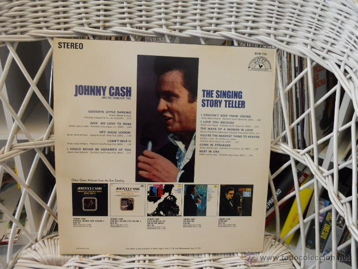 Discos de vinilo: Johnny Cash And The Tennessee Two – The Singing Story Teller.lp original usa 1979.sun records - Foto 2 - 47584469