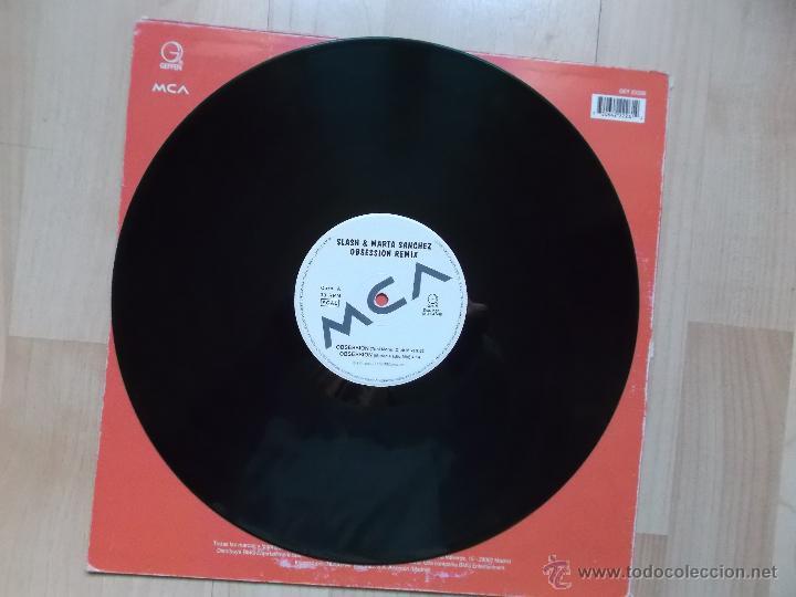 Discos de vinilo: SLASH & MARTA SANCHEZ OBSESSION 1996 - Foto 3 - 118869864