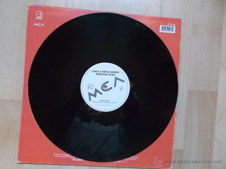 Discos de vinilo: SLASH & MARTA SANCHEZ OBSESSION 1996 - Foto 4 - 118869864