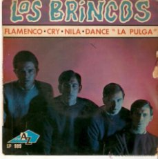 Discos de vinilo: EP LOS BRINCOS EDICION FRANCESA - FLAMENCO - CRY -NILA - DANCE LA PULGA. Lote 47590855