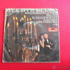 Discos de vinilo: BERT KAEMPFERT AND HIS ORCHESTRA - BYE BYE BLUES. Lote 47591093