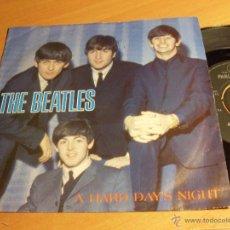 Discos de vinilo: THE BEATLES (A HARD DAY'S NIGHT + 1) SINGLE R-5160 (NM/NM) (EP11). Lote 47592766