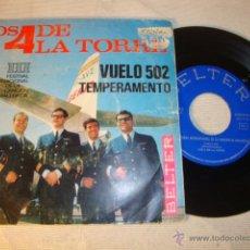 Discos de vinilo: DISCO SINGLE ORIGINAL VINILO GRUPO LOS 4 DE LA TORRE. Lote 47595697