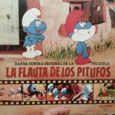 Discos de vinilo: LA FLAUTA DE LOS PITUFOS. Lote 47597989