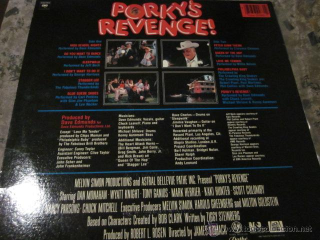 Discos de vinilo: PORKY'S REVENGE - B.S.O. - LP - DAVE EDMUNDS,JEFF BECK,GEORGE HARRISON,CARL PERKINS,ETC. - Foto 2 - 47602316