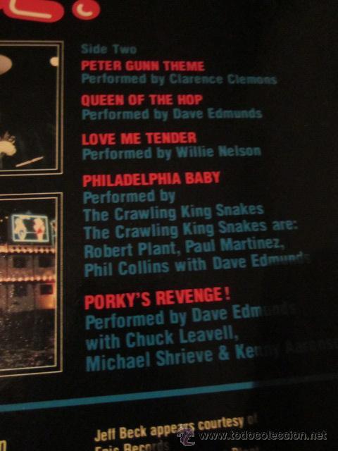 Discos de vinilo: PORKY'S REVENGE - B.S.O. - LP - DAVE EDMUNDS,JEFF BECK,GEORGE HARRISON,CARL PERKINS,ETC. - Foto 4 - 47602316