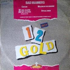 Discos de vinilo: BAD MANNERS - CAN CAN / MY GIRL LOLLIPOP + 2 . MAXI SINGLE . 1987 OLD GOLD UK - OG 4014. Lote 192011825