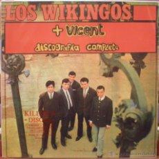 Discos de vinilo: LOS WIKINGOS + VICENT. Lote 47603956