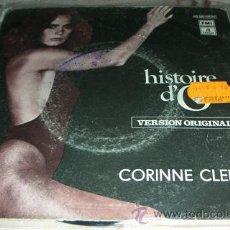 Discos de vinilo: CORINNE CLERY - HISTOIRE D' O - SINGLE ESPAÑOL. Lote 47616474