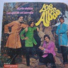 Discos de vinilo: SOLO CARATULA SIN DISCO SINGLE ORIGINAL VINILO GRUPO LOS ALBAS . KYRIE ELEISON. Lote 47617177