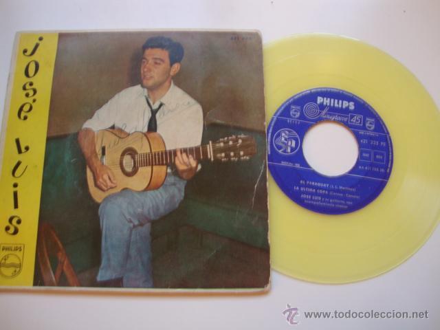 DISCO SINGLE ORIGINAL VINILO JOSE LUIS EP SELLO PHILIPS AÑO 1959 VINILO AMARILLO (Música - Discos de Vinilo - EPs - Solistas Españoles de los 50 y 60)