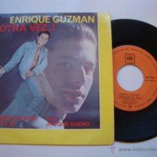 Discos de vinilo: DISCO SINGLE ORIGINAL ENRIQUE GUZMÁN OTRA VEZ...! DAME FELICIDAD / VEN A MI / OYE / AH! QUE BUENO EP. Lote 47623953