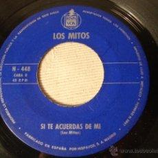 Discos de vinilo: DISCO SINGLE ORIGINAL VINILO LOS MITOS SIN CARATULA. Lote 47628096