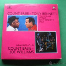 Discos de vinilo: ECHOES OF AN ERA - COUNT BASIE - TONY BENNETT & JOE WILLIAMS- 2 LP - LABEL ROULETTE 1982 PDELUXE. Lote 47628201