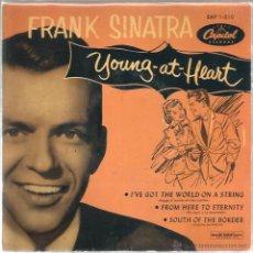 Discos de vinilo: EP FRANK SINATRA : YOUNG AT HEART . Lote 47632263