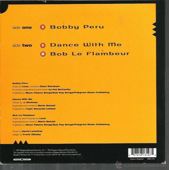 Discos de vinilo: EP LUNA : BOBBY PERU + 2 - Foto 2 - 47632635