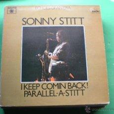 Discos de vinilo: SONNY STITT - ECHOES OF AN ERA, I KEEP COMIN' BACK! / PARALLEL-A-STITT - 2 LP ROULETTE PDELUXE. Lote 47641124