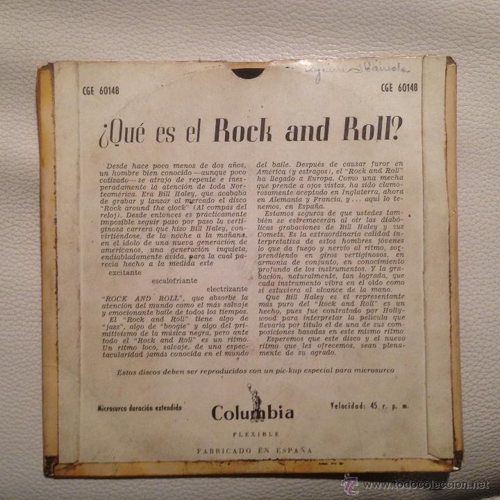 Discos de vinilo: BILL HALEY - EP 1956 EDICION ESPAÑOLA ROCK AROUND THE CLOCK + 3 - Foto 2 - 47641874