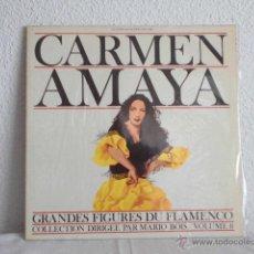 Discos de vinilo: CARMEN AMAYA-LP GRANDES FIGURES DU FLAMENCO-EDICION FRANCESA. Lote 47645202