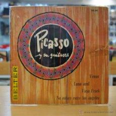 Discos de vinilo: PICASSO Y SU GUITARRA - VENUS - ( PORTADA RASGADA DISCO BIEN ) - + 3 - EP. Lote 47645638