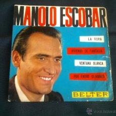 Discos de vinilo: LOTE CUATRO DISTINTOS MANOLO ESCOBAR. Lote 47646711