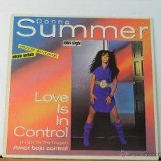 Discos de vinilo: DONNA SUMMER - LOVE IS IN CONTROL - WEA RECORDS EDICION LIMITADA. Lote 47647662