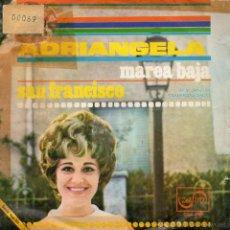 Discos de vinilo: ADRIANGELA, SG, MAREA BAJA + 1 , AÑO 1968 PROMO. Lote 47651615