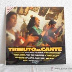 Discos de vinilo: TRIBUTO AL CANTE-LP BENI DE CADIZ EL CHOCOLATE PORRINA DE BADAJOZ LOLA FLORES. Lote 47664727