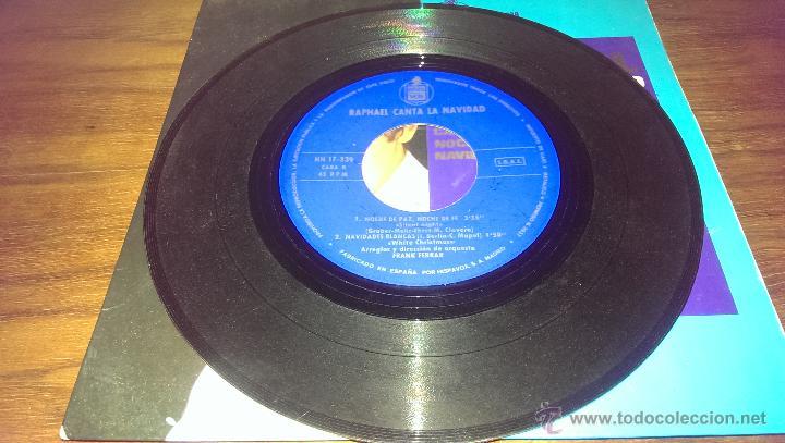 Discos de vinilo: RAPHAEL CANTA LA NAVIDAD SINGLE 1965, EL TAMBORILERO - Foto 4 - 43136847