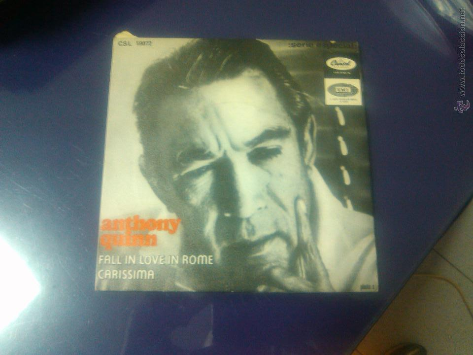 ANTHONY QUINN - FALL IN LOVE IN ROME + CARISSIMA (Música - Discos - Singles Vinilo - Bandas Sonoras y Actores)