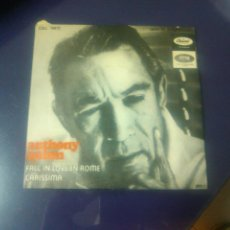 Disques de vinyle: ANTHONY QUINN - FALL IN LOVE IN ROME + CARISSIMA. Lote 47669018