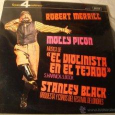 Discos de vinilo: DISCO LP ORIGINAL BANDA SONORA PELICULA EL VIOLINISTA EN EL TEJADO ROBERT MERRILL / MOLLY PICON. Lote 47682087