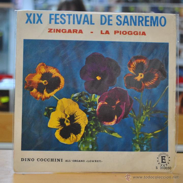 DINO COCCHINI - ZINGARA - XIX FESTIVAL DE SAN REMO - SINGLE (Música - Discos - Singles Vinilo - Otros Festivales de la Canción)