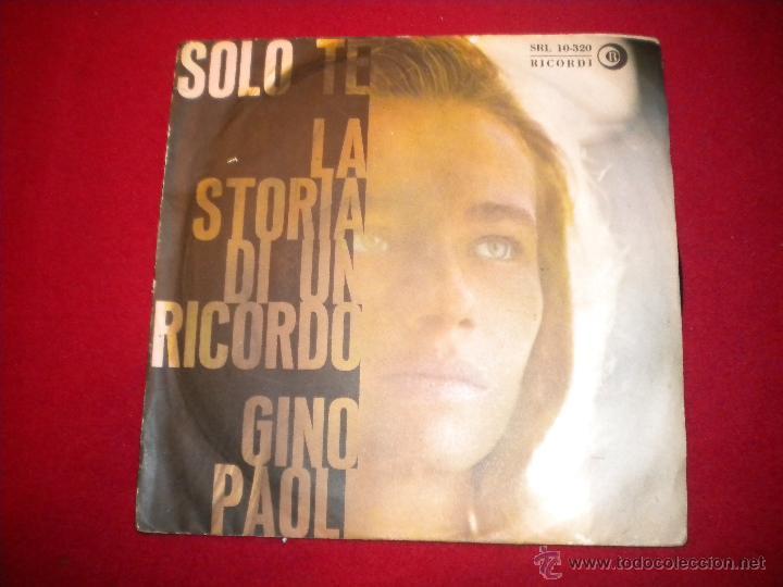 GINO PAOLI - LA STORIA DI UN RECORDO - RICORDI (Música - Discos - Singles Vinilo - Canción Francesa e Italiana)