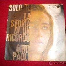 Discos de vinilo: GINO PAOLI - LA STORIA DI UN RECORDO - RICORDI. Lote 47698981