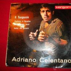 Discos de vinilo: ADRIANO CELENTANO IL TANGACCIO - VERGARA 1963. Lote 47699560