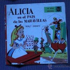 Discos de vinilo: ALICIA EN EL PAÍS DE LAS MARAVILLAS. WALT DISNEY. RCA.. Lote 47704405