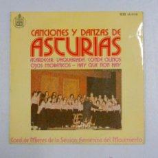 Discos de vinilo: CANCIONES Y DANZAS DE ASTURIAS. ATARDECER. VAQUEIRADA. SECCION FEMENINA. TDKDS10. Lote 47713234