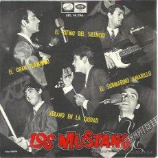 Discos de vinilo: LOS MUSTANG EP EMI REGAL 1966 SUBMARINO AMARILLO (BEATLES-YELLOW SUBMARINE)/ EL GRAN FLAMINGO +2. Lote 47715010