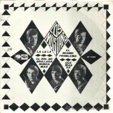 Discos de vinilo: LOS MUSTANG EP EMI REGAL 1966 LA LA LA/ EL SOL NO BRILLARA/ EL MISMO PROBLEMA/ QUE MAS DA. Lote 47715018