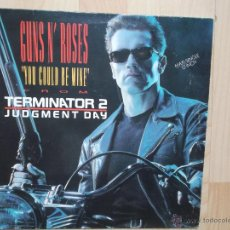 Discos de vinilo: GUNS N´ROSES YOU COULD BE MIME - CIVIL WAR 1991 FROM TERMINATOR 2. Lote 47715237