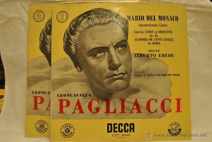 2 LP MARIO DEL MONACO (Música - Discos de Vinilo - EPs - Clásica, Ópera, Zarzuela y Marchas)