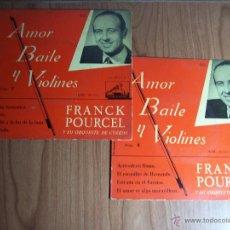 Discos de vinilo: LOTE DE 2 SINGLES DE FRANCK POURCEL Y SU ORQUESTA DE CUERDA (AMOR BAILE Y VIOLINES Nº 7 Y 8). Lote 47719433