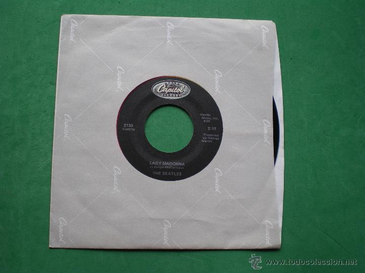 BEATLES LADY MADONNA/THE INNER LIGHT SINGLE FUNDA/LABEL CAPITOL.USA. PDELUXE (Música - Discos - Singles Vinilo - Pop - Rock Internacional de los 50 y 60)