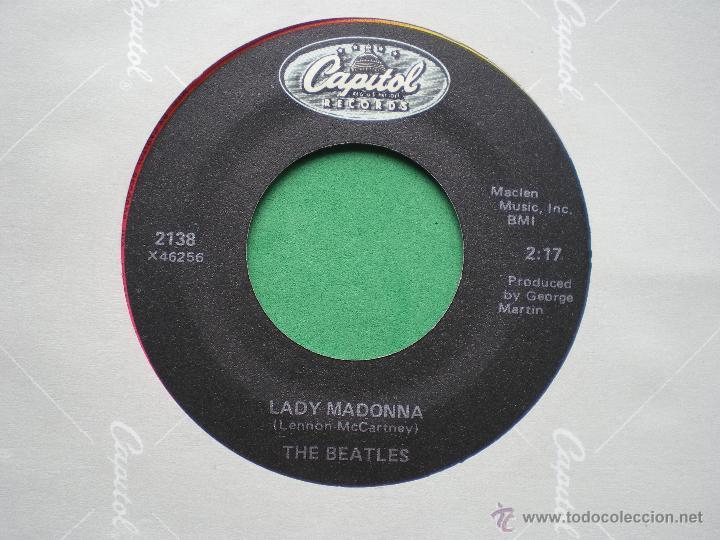 Discos de vinilo: BEATLES LADY MADONNA/THE INNER LIGHT SINGLE FUNDA/LABEL CAPITOL.USA. PDELUXE - Foto 2 - 47721295