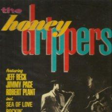 Discos de vinilo: LP THE HONEY DRIPPERS : JEFF BECK, JIMMY PAGE, ROBERT PLANT ( LED ZEPPELIN ) EDICION ESPAÑOLA. Lote 47722264
